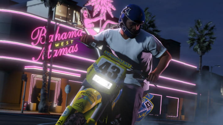 grand theft auto v shakes up the franchise with new ideas and narrative solutions dirt bike