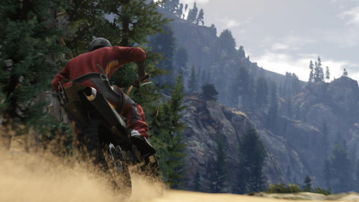 grand theft auto v shakes up the franchise with new ideas and narrative solutions dirt bike mountains