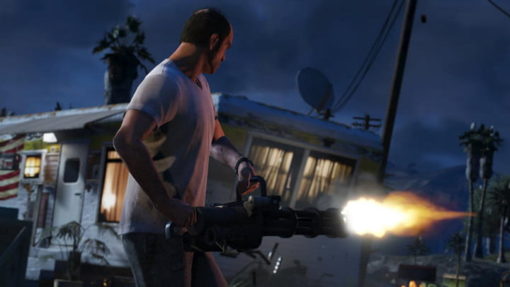 grand theft auto v shakes up the franchise with new ideas and narrative solutions machine gun