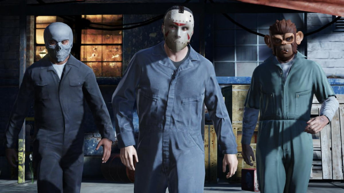 rockstar offers the first look at gta  online grand theft auto v masks