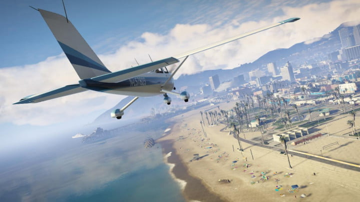grand theft auto v shakes up the franchise with new ideas and narrative solutions plane beach
