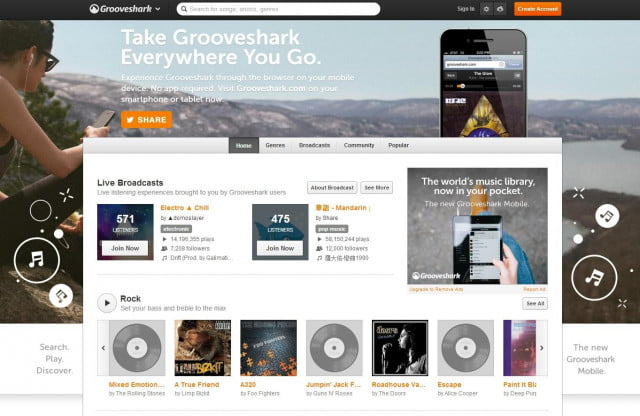 grooveshark offer super cheap radio app will play anything like