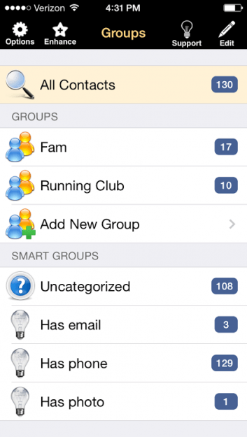 How to make a Contact Group Using Groups (App)