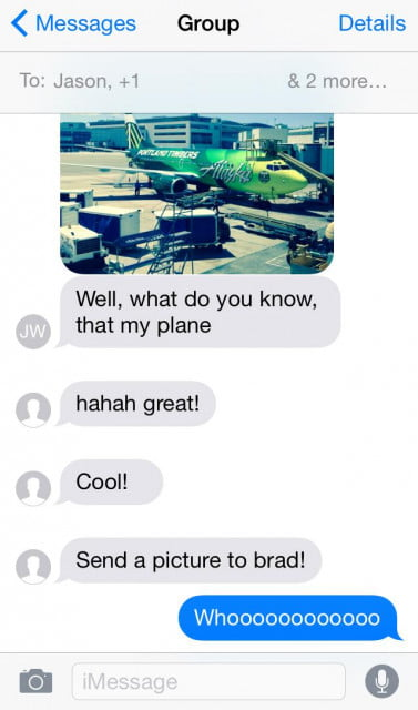 Group texts in iOS 8