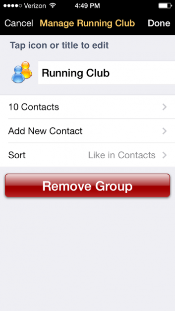 Running Club in Groups App