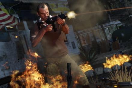 Grand Theft Auto V looks about