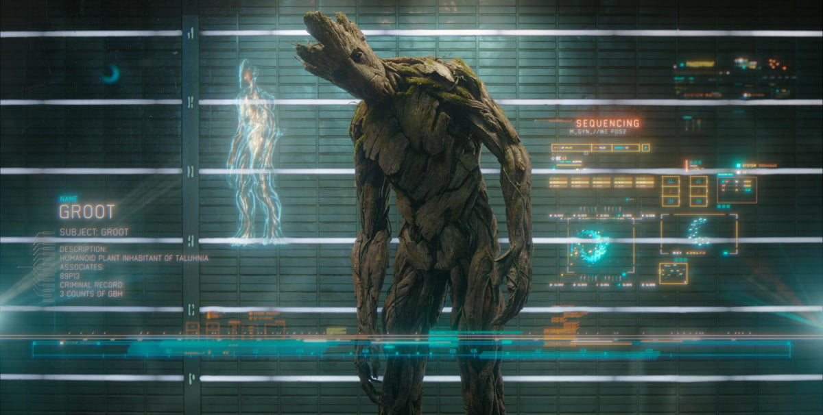 now can watch scene guardians galaxy everyones talking of the  groot