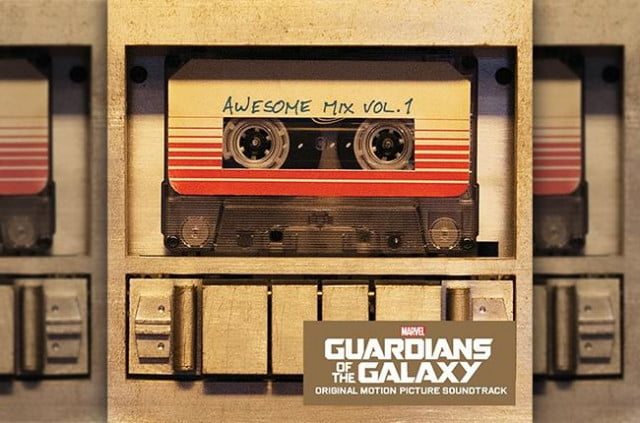 guardians of the galaxy soundtrack on cassette tape mix
