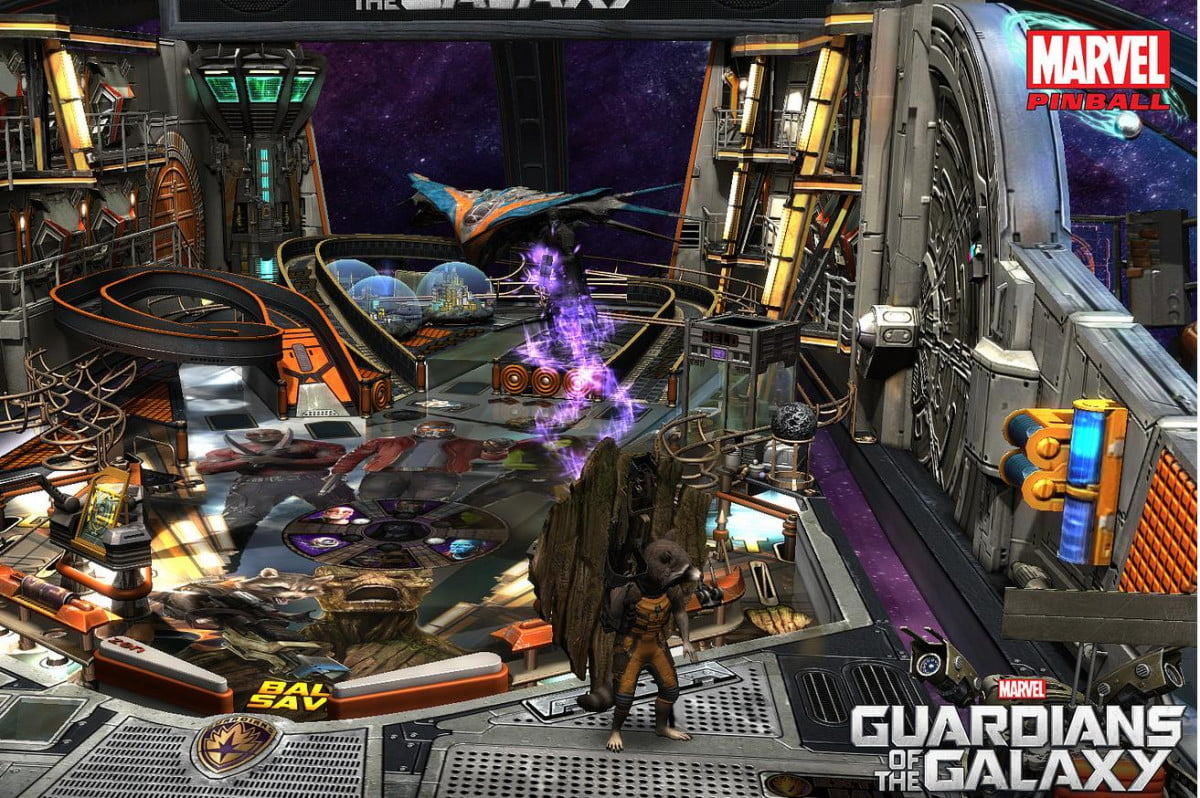marvels guardians galaxy coming zen pinball  of the