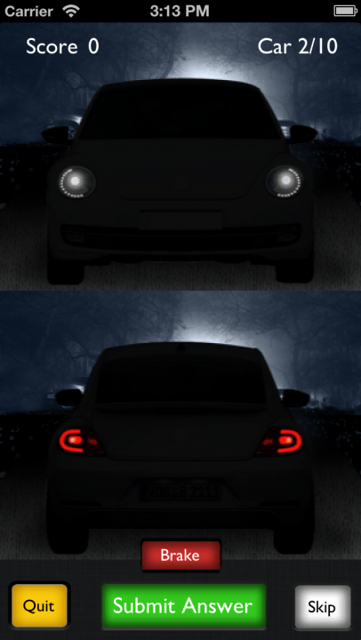are you afraid of the dark motor recall iphone app has guessing car models at night guess beetle  inch
