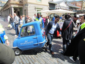 Peel P50 being towed by person
