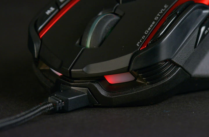 genius gila gx gaming series review mouse  meter braided cable with gold plated usb connector macro