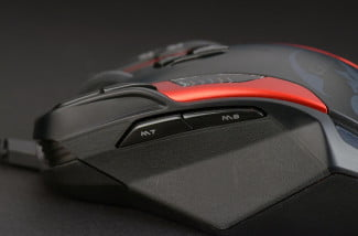 gx gila gaming mouse adjustable metal weights macro