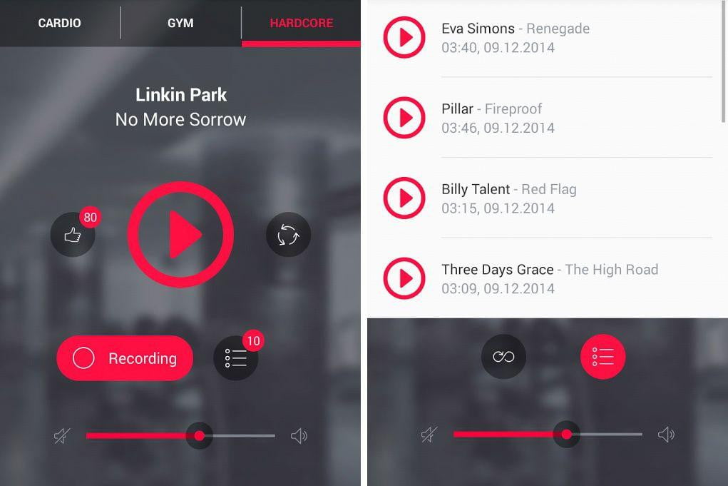 GYM exercise fitness music app