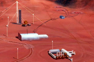 The exterior of Mars habitats will be similar to research stations in Antarctica.