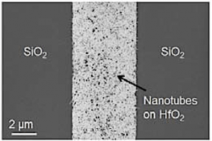 Carbon nanotubes in hafnium channel