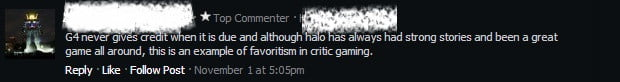 Halo 4 G4 comment
