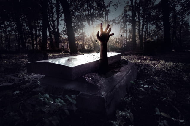 amazon zombie clause lumberyard hand rising out of grave