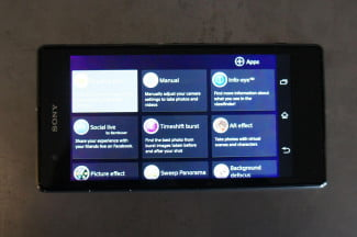 Hands On Sony Xperia Z1S apps