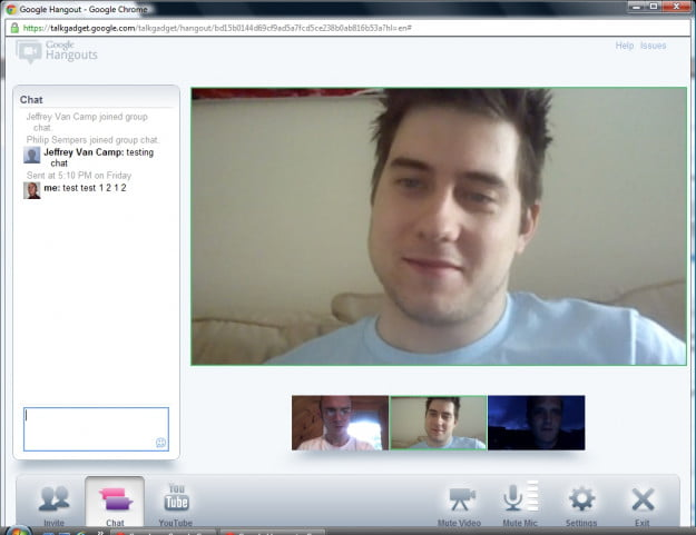 Hangout - text chat