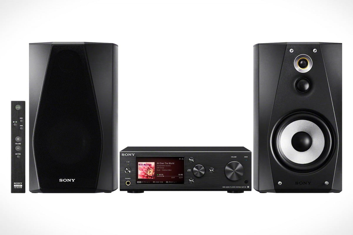 sony makes huge push toward high resolution music releases suite of end audio products hap s  black