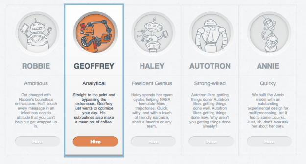 Happiness Engines Robot Assistant options