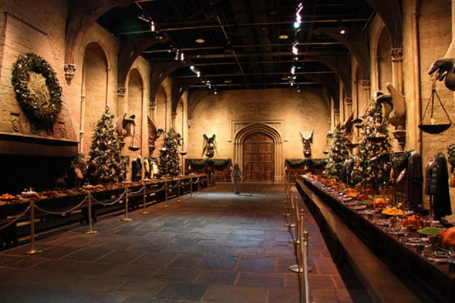 harry potter christmas dinner hogwarts big
