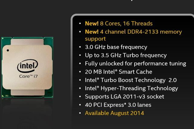 Haswell E specs