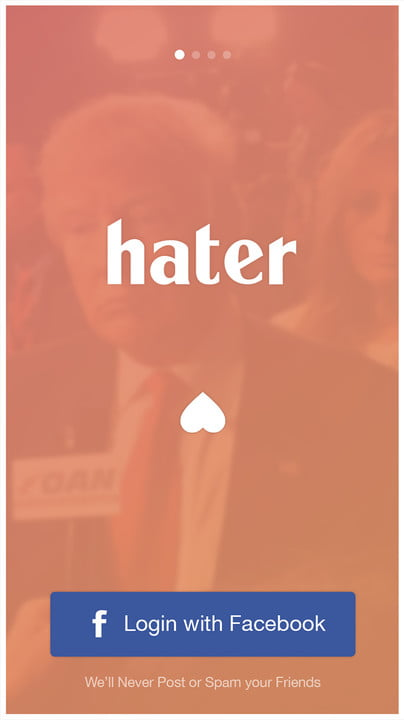 hater dating app screen