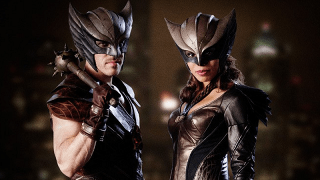 first images of hawkgirl and hawkman