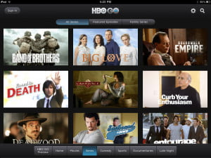 HBO Go iPad Screenshot