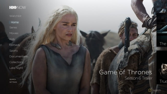 HBO Now on Xbox One
