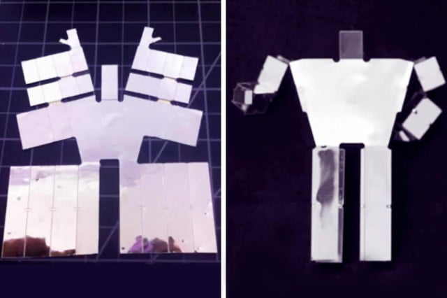 mit researchers developed  d robots self assemble heated