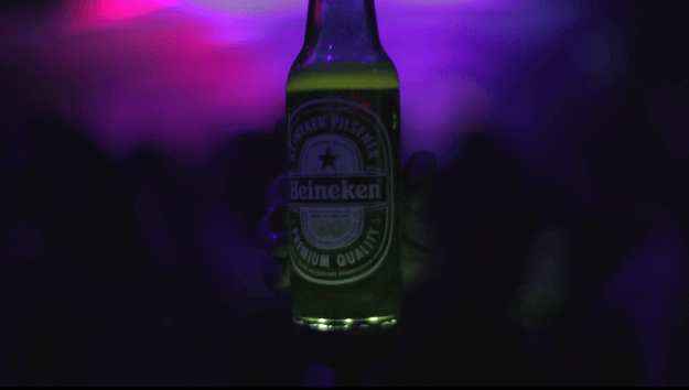 Heineken Ignite smart bottle lights