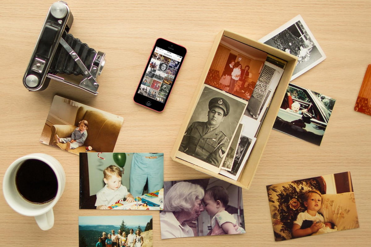 heirloom app for digitally scanning and sharing print photos