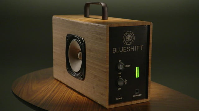 wireless bamboo speaker charges  minutes plays hours helium header