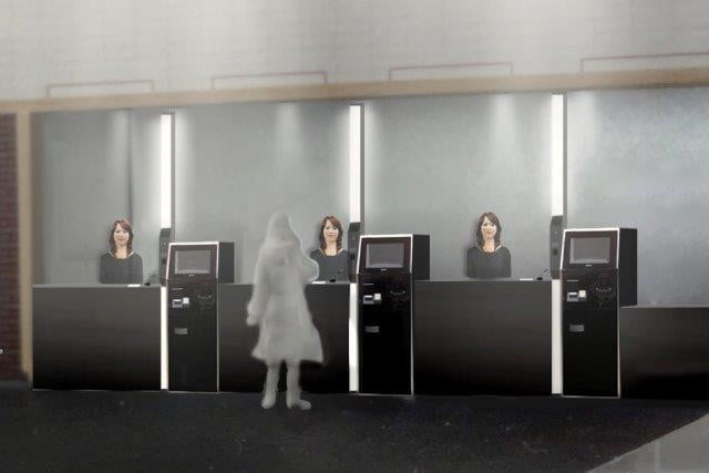 high tech hotel will use robot staff check help guests henn na