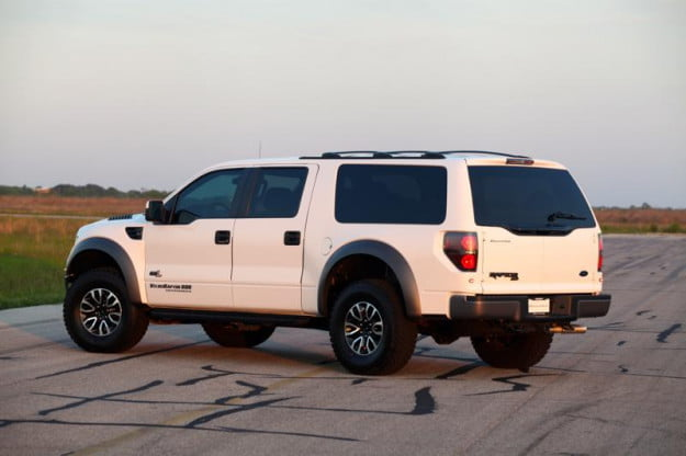Hennessey VelociRaptor SUV rear three quarter