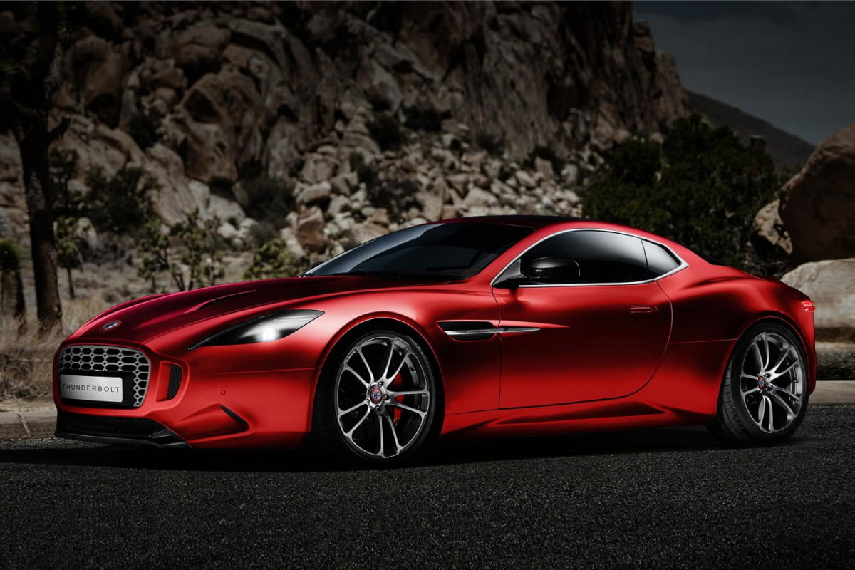 fishers thunderbolt is unauthorized copy claims aston martin galpin