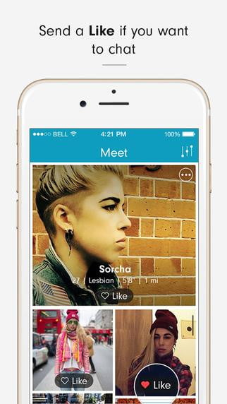 her dating app is now available nationwide screen