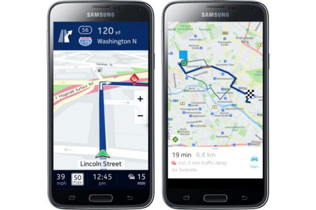 here maps android news samsung galaxy