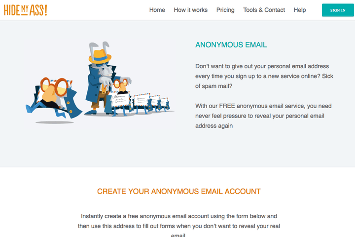 Hide My Ass Anonymous Email