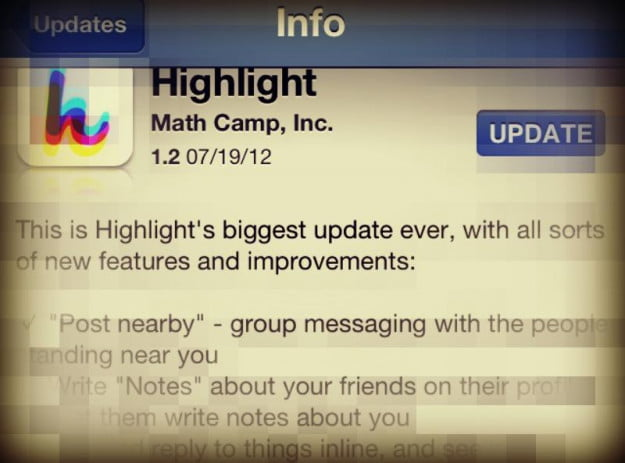 highlight updates app