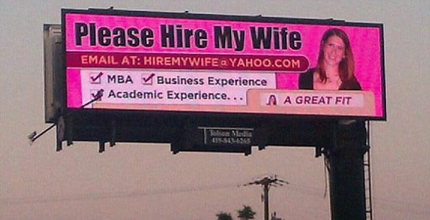 Hire Wife Digital Billboard