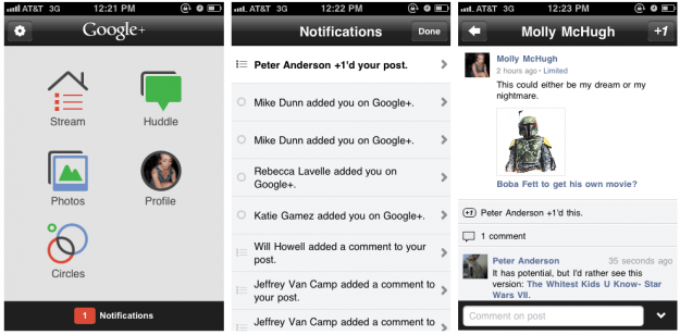 home screen - notifications