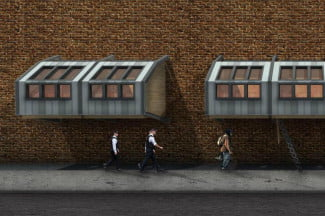 Homes for the Homeless Pod Wall