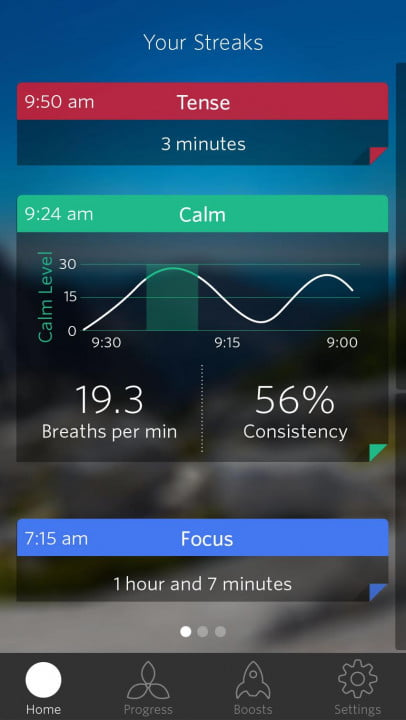 spire activity tracker review homescreen streak view  calm detail