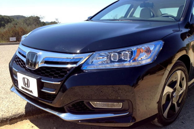 Honda Accord 2013 review exterior front angle hybrid