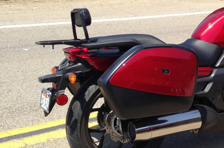 honda ctx review  candy red color match saddlebag panel passenger backrest and rear carrier