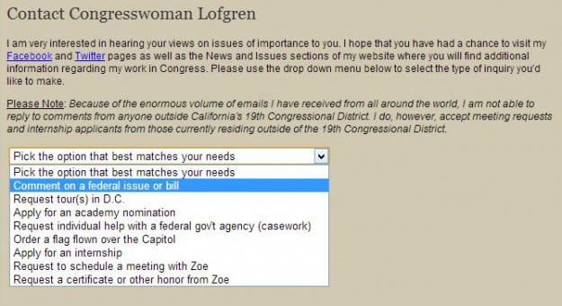house gov find your rep -  contact congresswoman lofgren